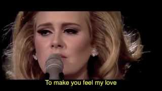 Adele - Make You Feel My Love (w/ lyrics)