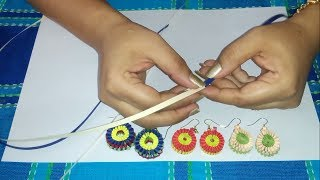 2. How to make Paper Weaving Earrings in 2 colors