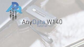 AnyData W140: настройка и решение частых проблем