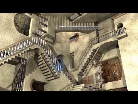 MC Escher's Relativity w/ Anaglyph 3D
