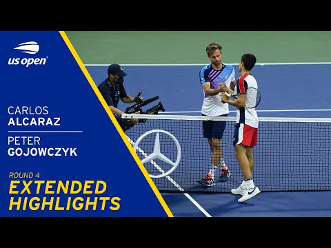 Carlos Alcaraz vs Peter Gojowczyk Extended Highlights   2021 US Open Round 4
