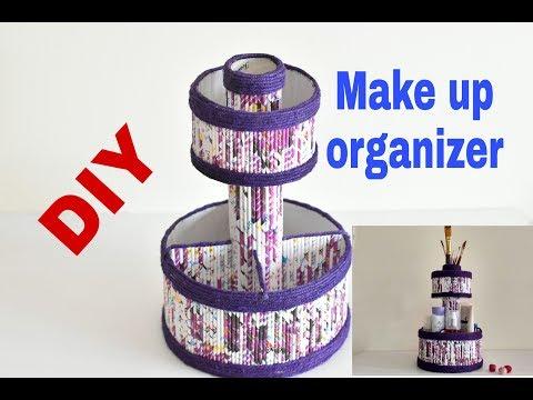 How to make DIY  makeup\multi purpose organizer||Paper craft|| IRIS craft corner 16