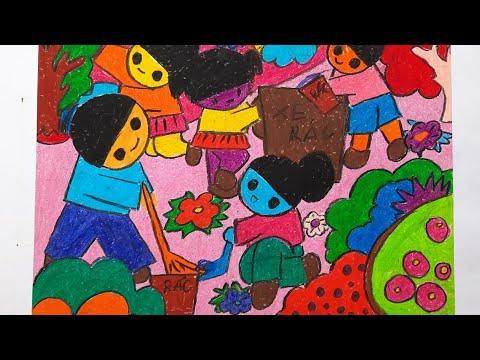 Tranh vẽ đề tài Bảo Vệ Môi Trường của học sinh tiểu học (P.2)