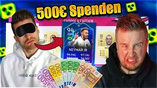 FIFA 19: BLIND DRAFT Battle 🔥😱Wer muss 500€ an kleinen STREAMER Spenden ?!
