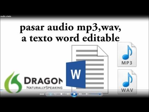Transcribir audios, grabaciones entrevistas a TEXTO automáticamente, pasar audio mp3 a texto.