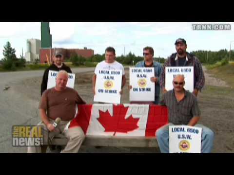 Canadian miners strike global giant
