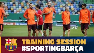Training session in Lisbon ahead of the CL match against Sporting