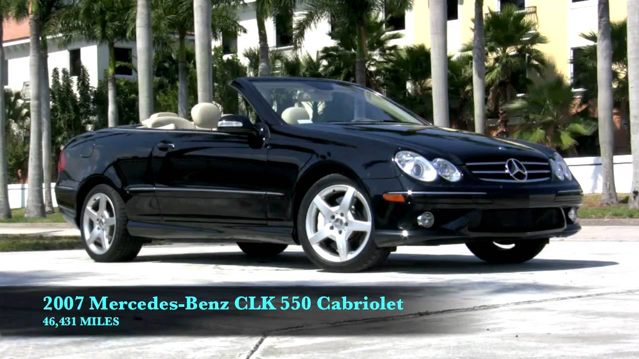 2007 mercedes benz clk550 cabriolet black a2658 youtube for 2007 mercedes benz clk550