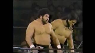 ジャンボ鶴田/天龍源一郎vs長州力/マサ斉藤 85年1月東京