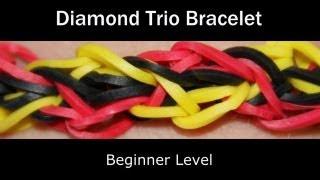 Rainbow Loom® Diamond Trio Bracelet