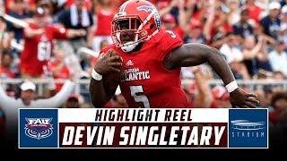 Devin Singletary Florida Atlantic Football Highlights - 2018 Season | Stadium