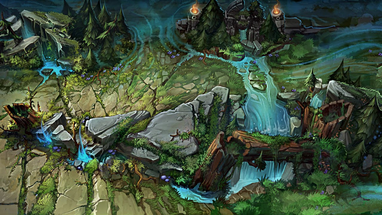 League Of Legends | Summoner Rift | Skin map | Sharp map - YouTube