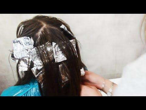Мелирование темных волос в домашних условиях