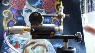 Hand made old school rotary tattoo machine by Slava INK-ing (with adjustable give)