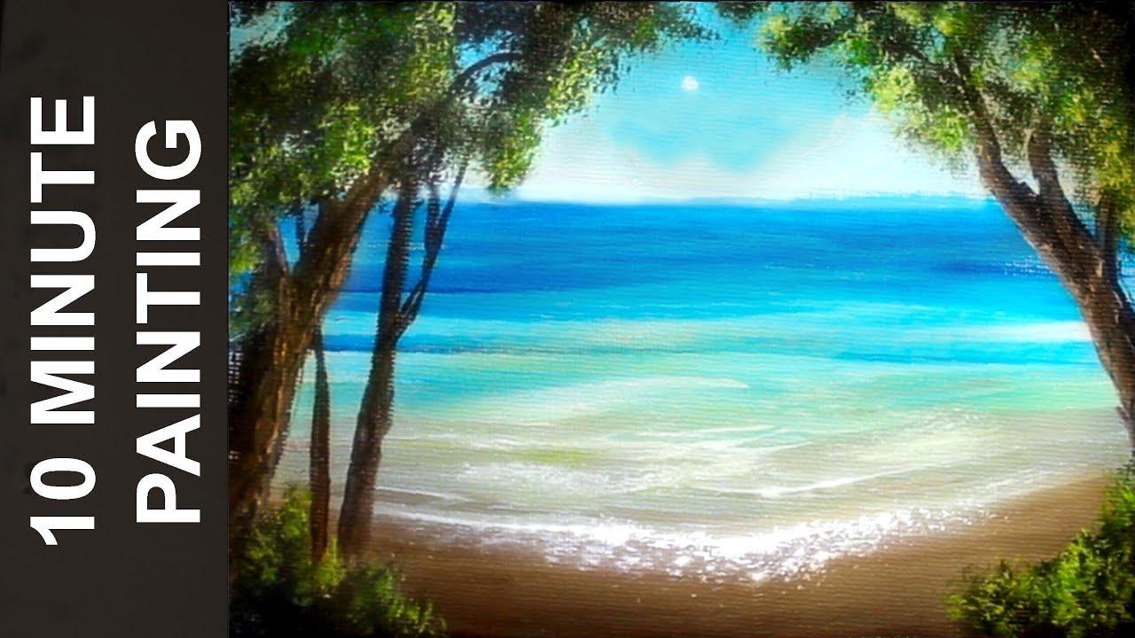 painting summer beach landscape