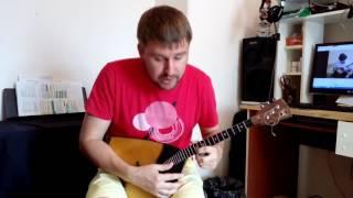"""Как играть песню """"Человек и кошка"""" на балалайке"""