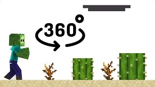 ZOMBIE RUNNER 360° Video - Minecraft VR