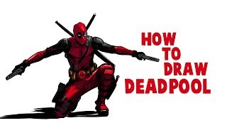 How To Draw Deadpool | Drawing Deadpool full Body | Drawing and Coloring Deadpool in Krita