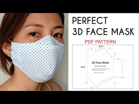 NO FOG ON GLASSES | Perfect 3D Face Mask | Best Fit-Comfortable-Beautiful Face Mask | PDF Pattern