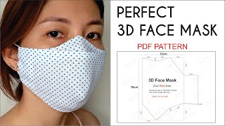 Perfect 3D Face Mask | Best Fit- Comfortable And Beautiful Face Mask | PDF Pattern