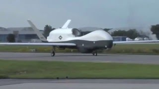 Northrop Grumman MQ-4C Triton Arriving at at Patuxent River, Md