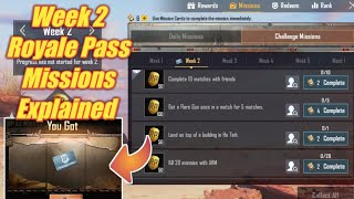 Gambar cover Season 10 Week 2 Royale Pass Missions Explained PUBG Mobile | Week 2 rp Missions Pubg Season 10