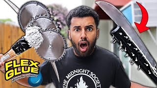 We Built DANGEROUS DIY Weapons Using Only FLEX GLUE!! *You Won't Believe The Results..*