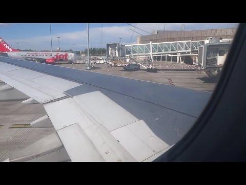 Landing Toulouse Blagnac France airport Air mediterranée A321