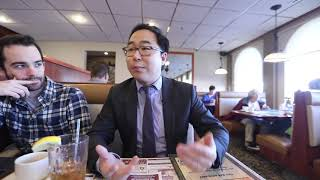 Andy Kim at Golden Dawn Diner in Burlington, NJ