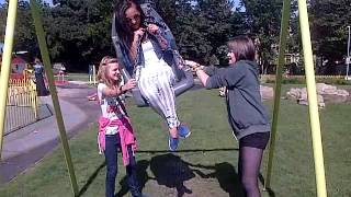 Funny times on a swing! Thumbnail