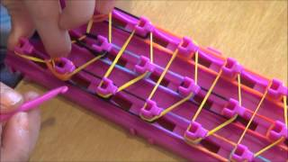Repeat youtube video How to make a crazy loom bracelet waterfall