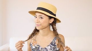 夏の定番!!カンカン帽に合うフィッシュボーンアレンジ/Hair Arrange