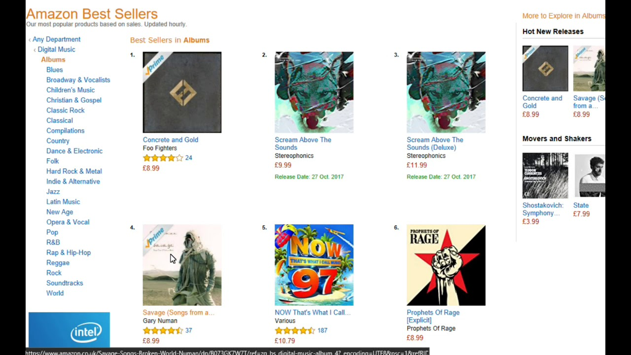 amazon best sellers music