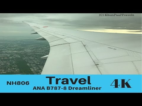 All Nippon Airways B787-8 Flight Experience | NH806 Bangkok to Tokyo/NRT | 4K