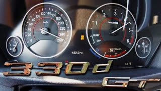 BMW 330d 2017 GT Acceleration & TOP SPEED on AUTOBAHN 0-255 km/h