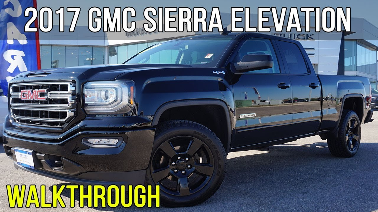 "Gmc Elevation 2017 >> 2017 GMC Sierra 1500 Elevation | 20"" Black Wheels ..."