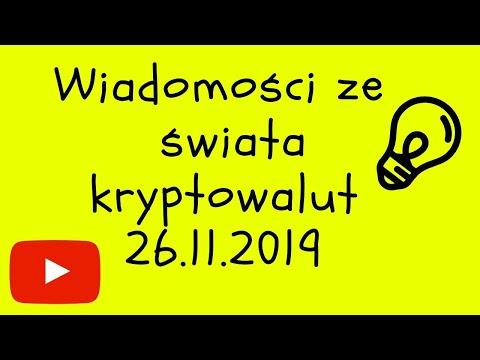 Wiadomości Ze świata Kryptowalut 26.11.19 Bitcoin Spada Do Zera