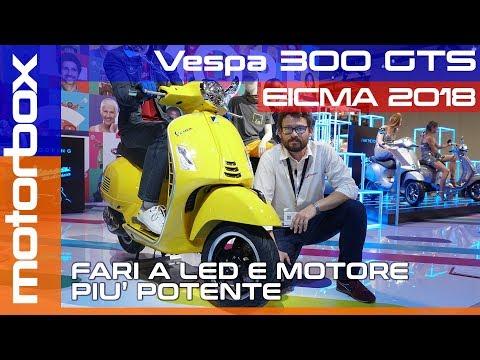 Vespa  GTS a Eicma  | Più potenza e fari a Led