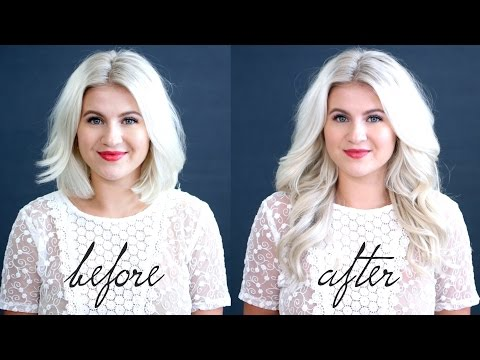 Blend Hair Extensions With Short Hair Tutorial