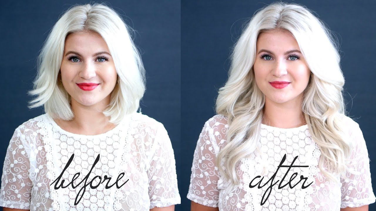 HOW TO Blend Hair Extensions With Short Hair Tutorial