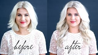 HOW TO: Blend Hair Extensions With Short Hair Tutorial | Milabu