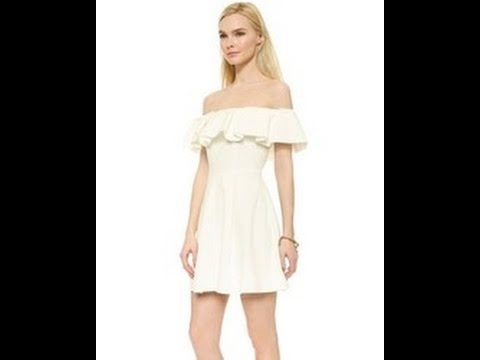 OFF SHOULDER RUFFLED DRESS - EASY CUTTING AND SEWING - WESTE