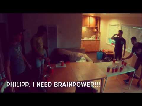 BRAINPOWER GIVES YOU REAL POWER :D || Santa Barbara Beer Pong || Niklas Ralle