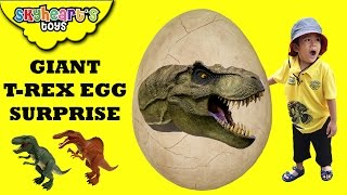 It's a GIANT T-REX EGG Surprise in Dinosaur Island! Mighty Megasaur Dinosaurs toys for kids