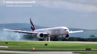 Emirates 777 Fast LANDING/STOP (Wow!) 23R | MAN