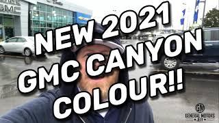 NEW 2021GMC CANYON COLOUR