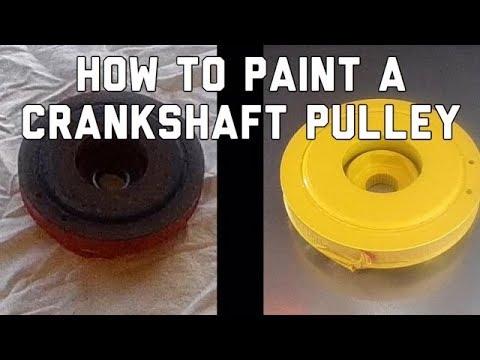 How to Paint a Crankshaft Pulley Harmonic Balancer - Bundys Garage