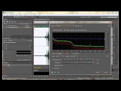 Удаление шума в Adobe Audition