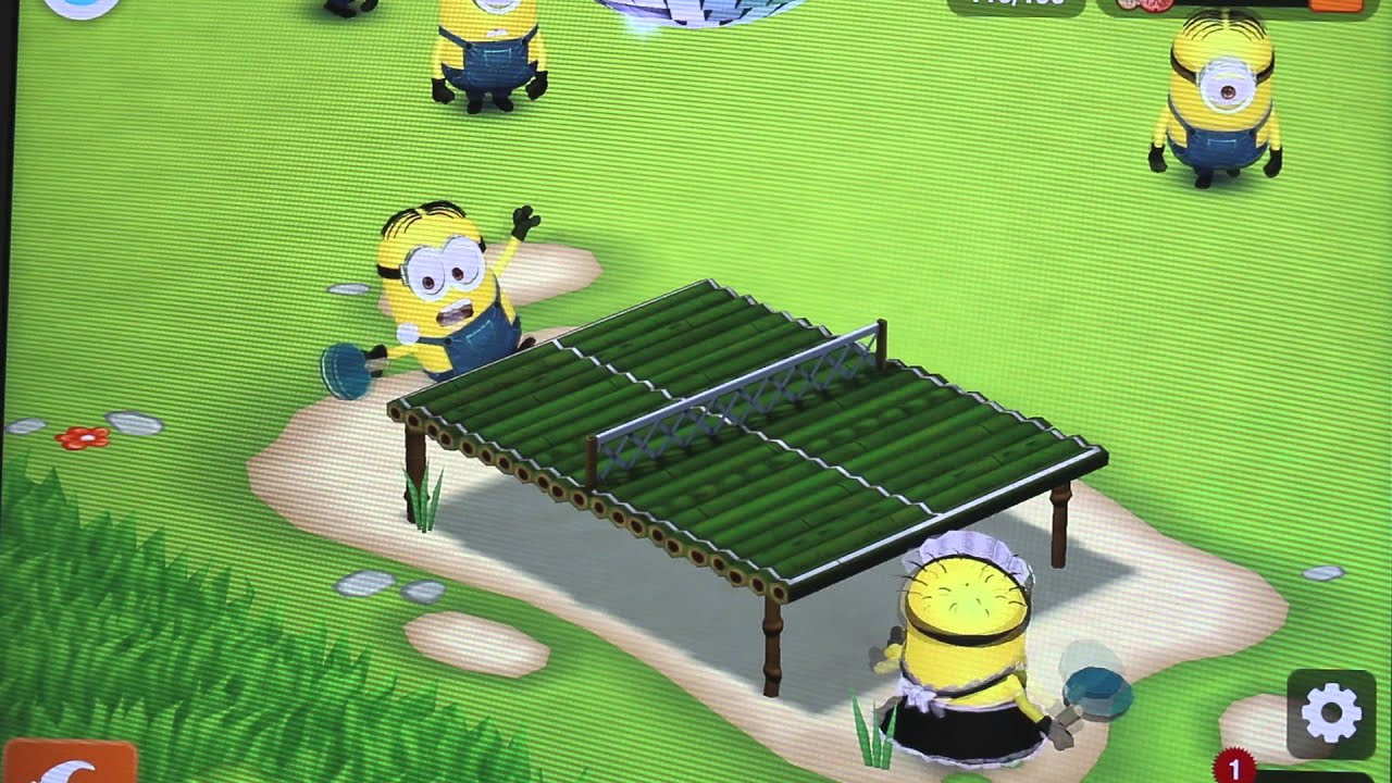 Minions Play Table Tennis