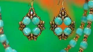 Turquoise Baroque Earrings Tutorial